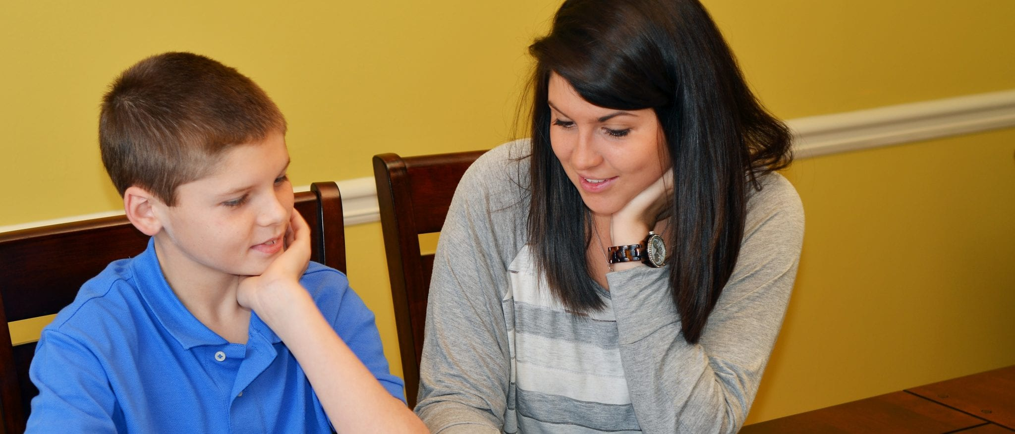 Tutoring young student