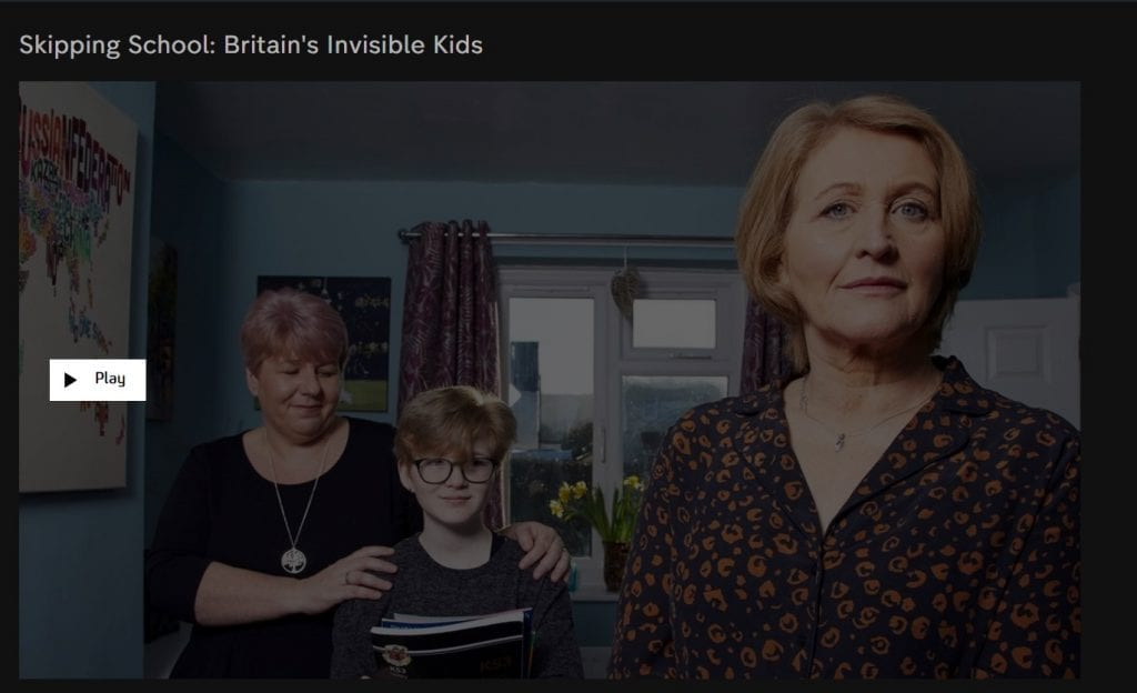 Channel 4 Dispatches documentary about home schooling by Anne Longfield